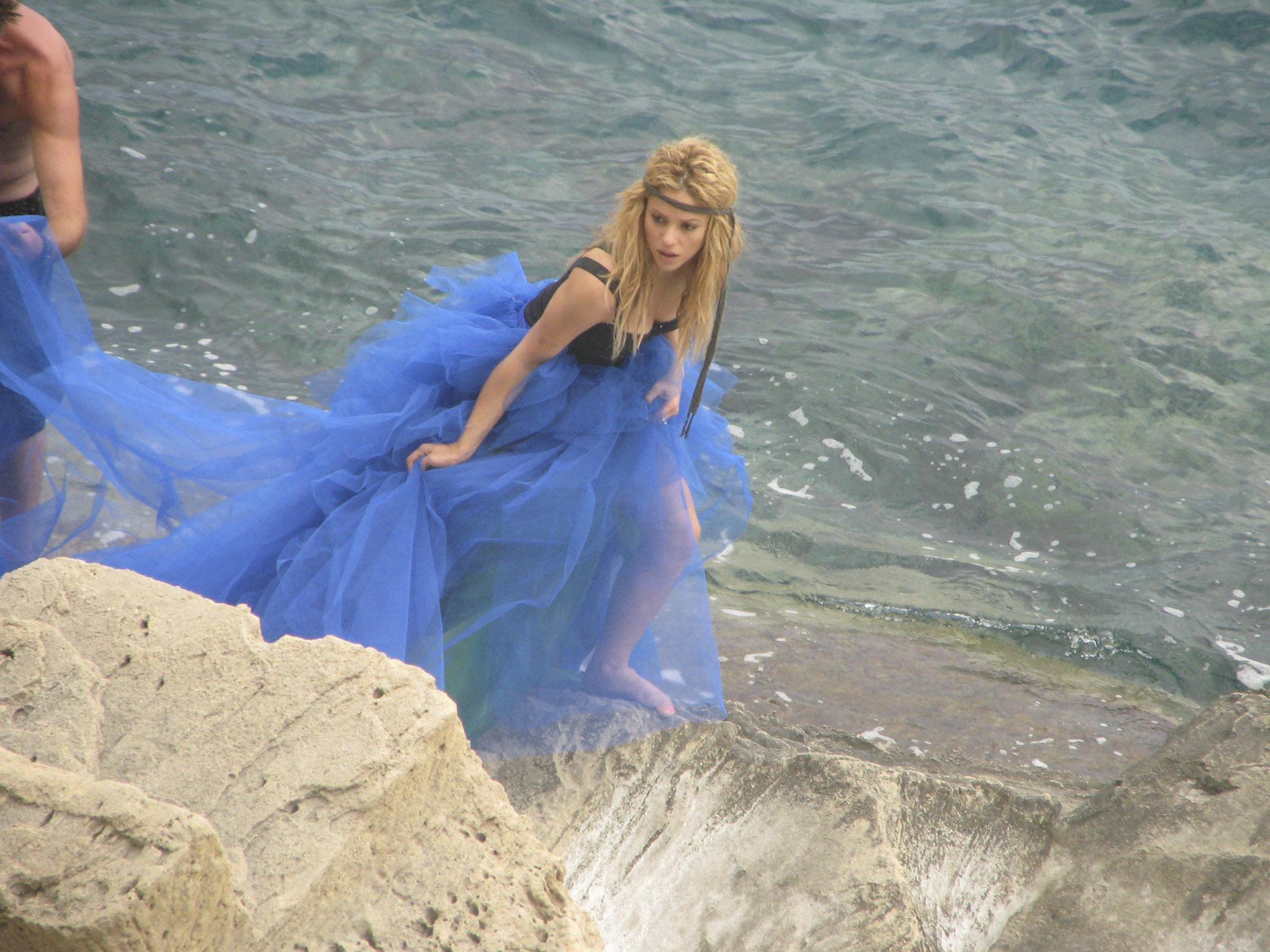 El vestido azul de shakira