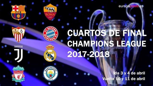 Juventus-Real Madrid, Barcelona-Roma y Sevilla-Bayern, cuartos de ...