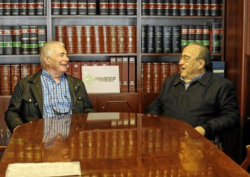 Jaime Marí y Armando Marí recuerdan sus inicios como fundadores de la patronal ibicenca en la sede de Pimeef.