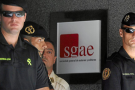 La Guardia Civil registra la sede de la (SGAE)